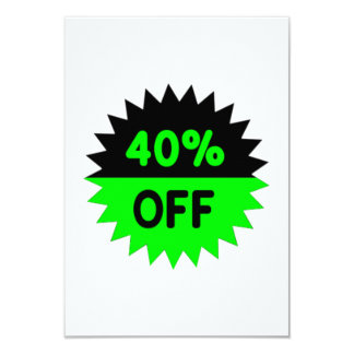Black and Green 40 Percent Off Card