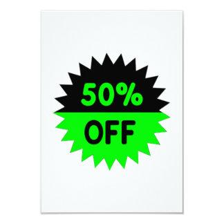 Black and Green 50 Percent Off Invitation