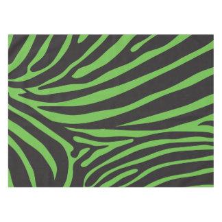 Black and Green Animal Stripe Print Tablecloth