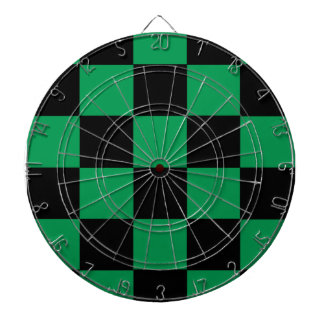 Black And Green Checkered Dart Boards