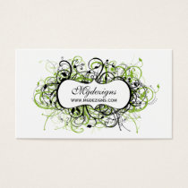 black and green Chic Business Cards