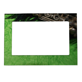 Black and Green Clarinet Magnetic Frame