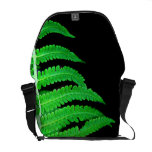 Black and Green Fern Commuter Bags