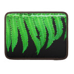 Black and Green Fern Sleeve For MacBook Pro