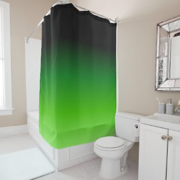 Beach Themed Black and Green Gradient 0921 Shower Curtain