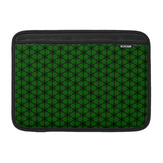 """Black and Green Hexagon 11"""" Sleeve For MacBook Air"""