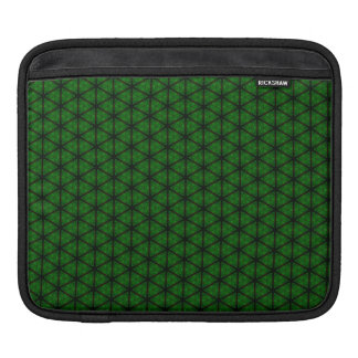 Black and Green Hexagon Sleeve For iPads