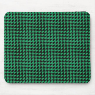 Black and Green Hounds Tooth Mousepad