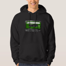 Black and Green Houndstooth Label Cassette Hoodie