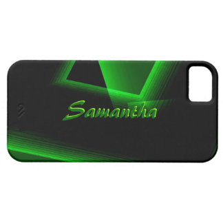 Black and Green iPhone 5 case for Samantha
