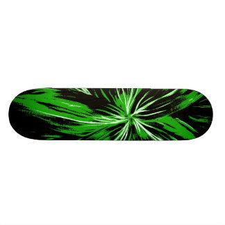 Black And Green Lightning Skateboard