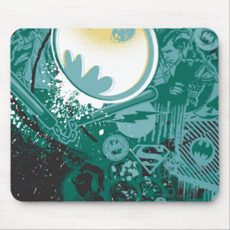 Black and Green Logo Pattern Mouse Pad