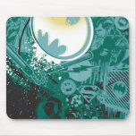 Black and Green Logo Pattern Mouse Pads