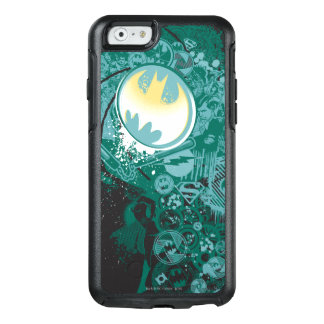 Black and Green Logo Pattern OtterBox iPhone 6/6s Case