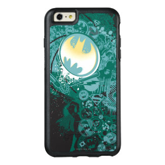 Black and Green Logo Pattern OtterBox iPhone 6/6s Plus Case