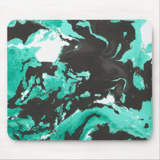 Black and green Marble Mouse Pad