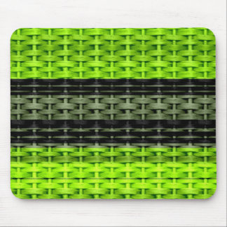 Black and green painting wicker art graphic design mouse pad