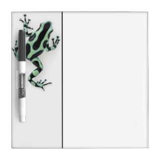 Black and Green Poison Dart Frog 2 Dry-Erase Board