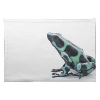 Black and Green Poison Dart Frog Cloth Placemat