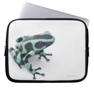 black and green poison dart frog (dendrobates computer sleeve