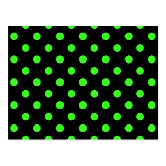Black and Green Polk-a-Dots Postcard