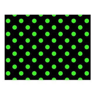 Black and Green Polk-a-Dots Post Card