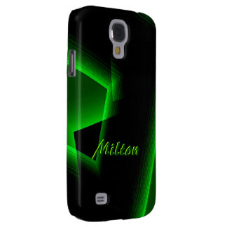 Black and Green Samsung Galaxy S4 case of Milton