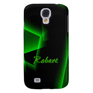 Black and Green Samsung Galaxy S4 cover for Robert