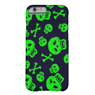 Black and Green Skulls case for iPhone 6 case iPhone 6 Case