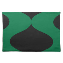 Black and Green Smooch Cloth Placemat