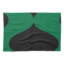 Black and Green Smooch Hand Towel