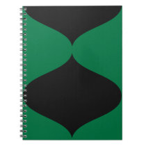 Black and Green Smooch Notebook
