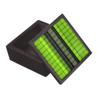 Black and green wicker art graphic design keepsake box