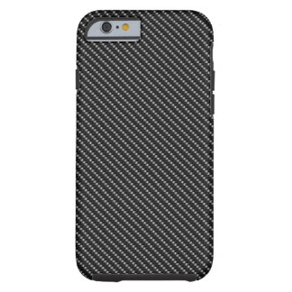 Black and Grey Carbon Fiber Base Tough iPhone 6 Case