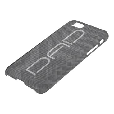 Beach Themed Black and Grey Carbon Fiber Dads iPhone 7 Case