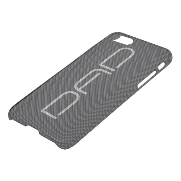 Black and Grey Carbon Fiber Dads iPhone 7 Case