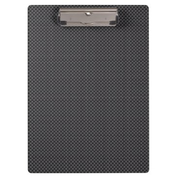 Beach Themed Black and Grey Carbon Fiber Material Clipboard