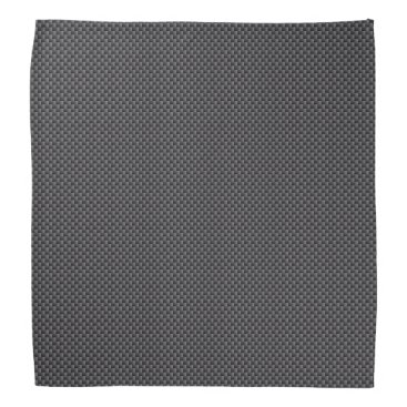Christmas Themed Black and Grey Carbon Fiber Polymer Bandana