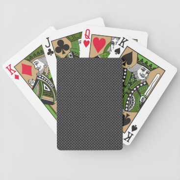 Beach Themed Black and Grey Carbon Fiber Polymer Bicycle Playing Cards