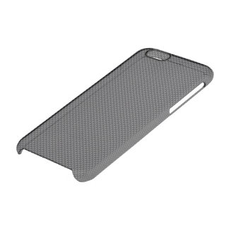 Black and Grey Carbon Fiber Polymer Clear iPhone 6/6S Case