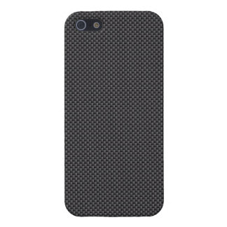 Black and Grey Carbon Fiber Polymer Cover For iPhone SE/5/5s