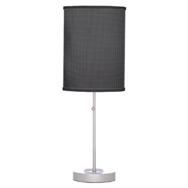 Beach Themed Black and Grey Carbon Fiber Polymer Desk Lamp
