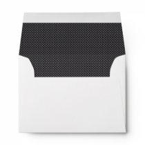 Black and Grey Carbon Fiber Polymer Envelope
