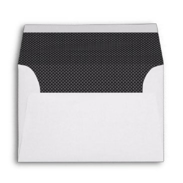 Christmas Themed Black and Grey Carbon Fiber Polymer Envelope