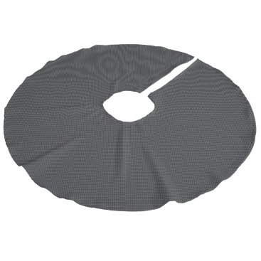 Beach Themed Black and Grey Carbon Fiber Polymer Faux Linen Tree Skirt