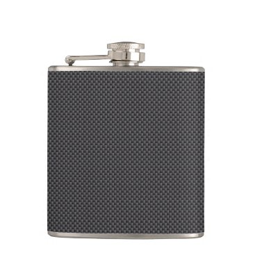 Beach Themed Black and Grey Carbon Fiber Polymer Flask