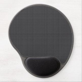 Black and Grey Carbon Fiber Polymer Gel Mouse Pad