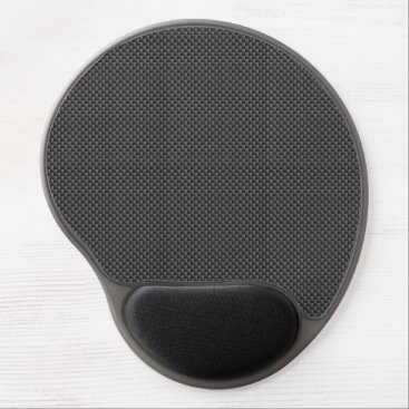 Valentines Themed Black and Grey Carbon Fiber Polymer Gel Mouse Pad