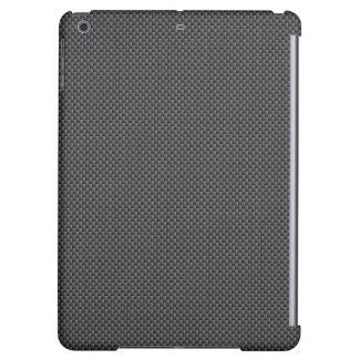 Black and Grey Carbon Fiber Polymer iPad Air Cover