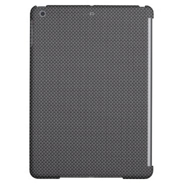 Beach Themed Black and Grey Carbon Fiber Polymer iPad Air Cover